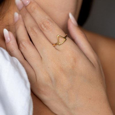 Triangle ring 925°