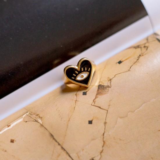 δαχτυλιδι καρδια με σμαλτο
