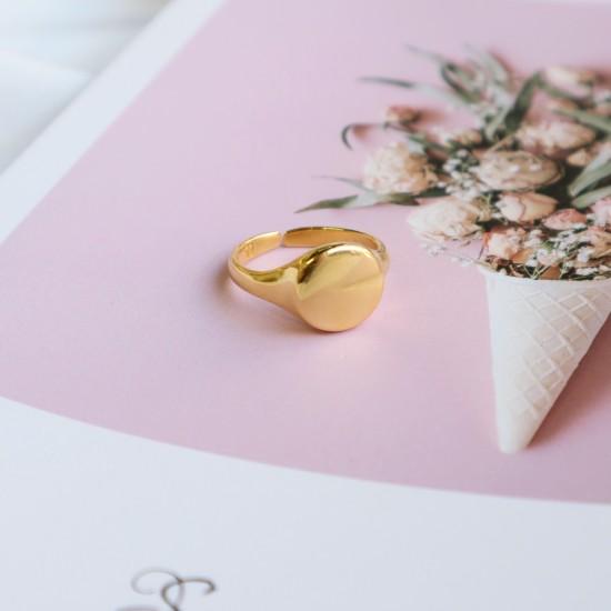 γεωμετρικο χρυσο δαχτυλιδι κυκλος