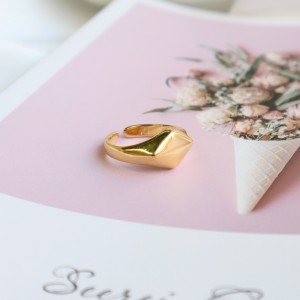 Shape ring Ρόμβος Gold
