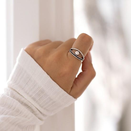 ασημενιο δαχτυλιδι ματι