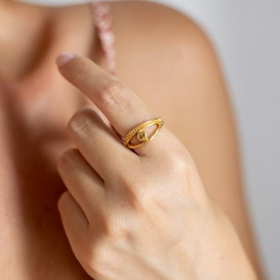 χρυσο δαχτυλιδι ματι