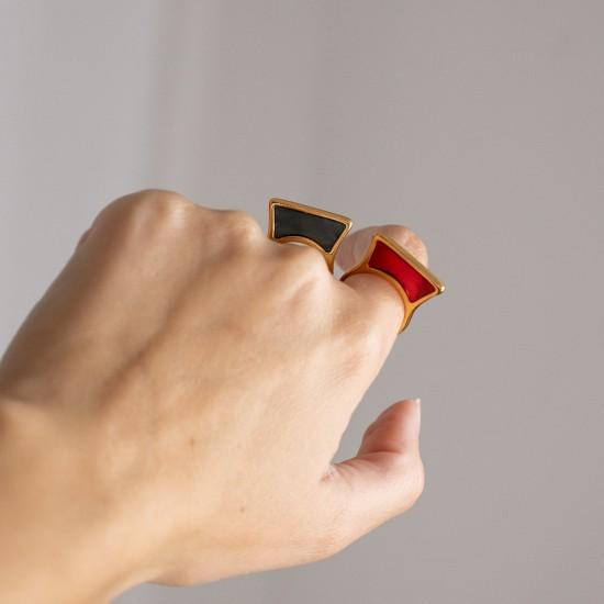 βιτρο μινιμαλ δαχτυλιδι γεωμετρικο