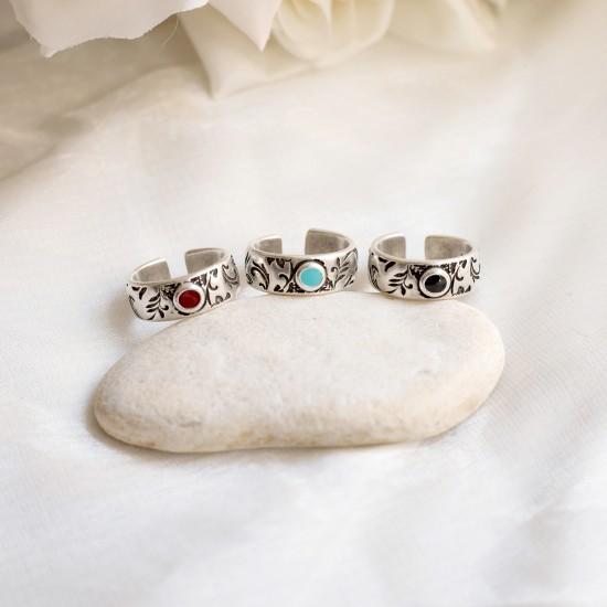 ασημενιο δαχτυλιδι vintage floral