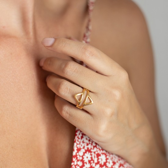 δαχτυλιδια γεωμετρικα
