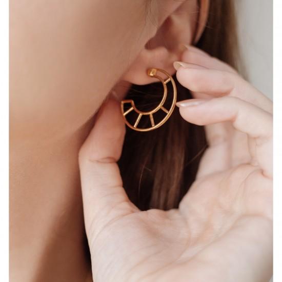 Medium Hoops earrings geometrical