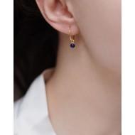 Mini hoops 925° Lapis Lazuli