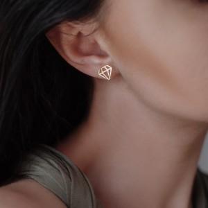 Καρφωτά σκουλαρίκια Diamond 925°