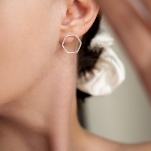Hexagon Earrings 925°