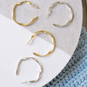 Twisted Hoops 925°