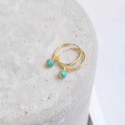 Mini Hoops 925° Turquoise