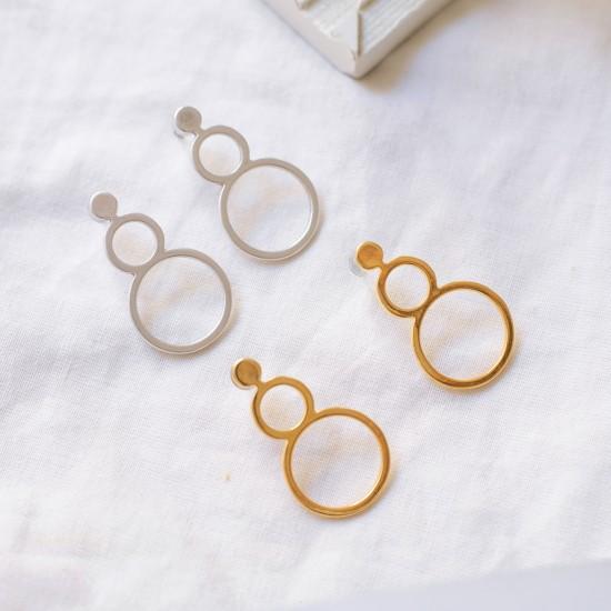 σκουλαρικια καρφωτα κυκλοι