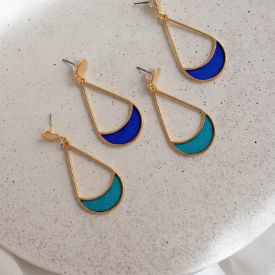 Colores earrings blue