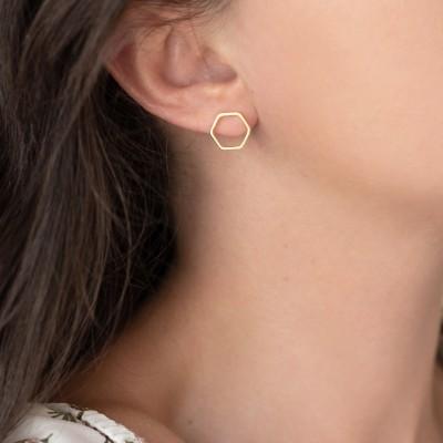 Hexagon Earrings 925° small