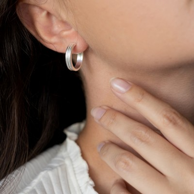 Evita earrings silver
