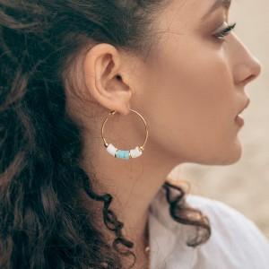 Aurora earrings Aqua