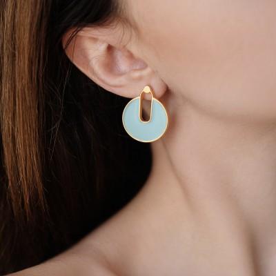 Mia Earrings Aqua