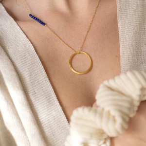 Karma Lapis necklace 925°