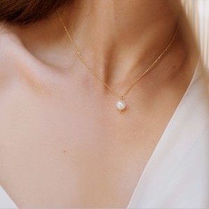 Minimal Pearl Necklace 925°