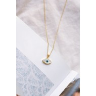 Eye necklace 925° Gold