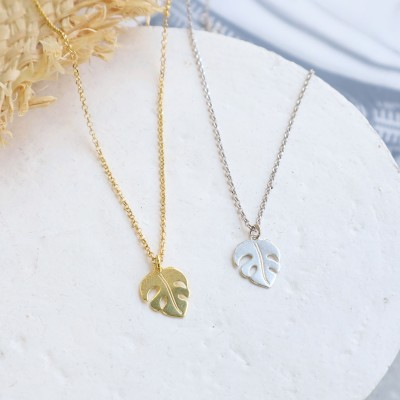 Monstera necklace 925°
