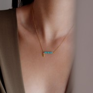 Turquoise necklace 925°