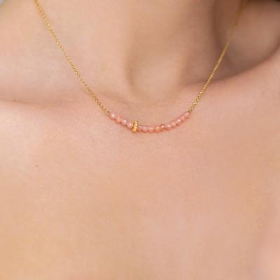 Rhodochrosite  necklace 925°