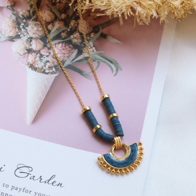 Aurora Necklace Dark Blue