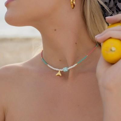 Mermaid pastel necklace