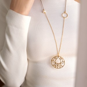 Lotus necklace long