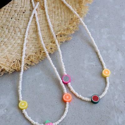 Summer fruits necklace