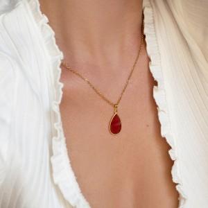 Vitro drop necklace