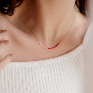 Rainbow necklace Pastel
