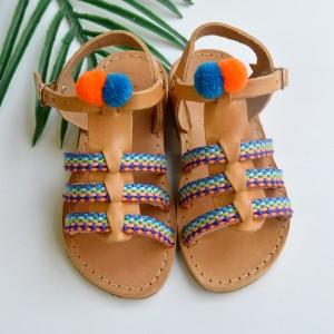 Ethnic gladiator sandals