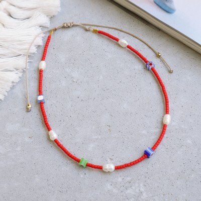Anklet Mia red