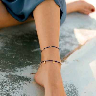 Anklet Navy Blue