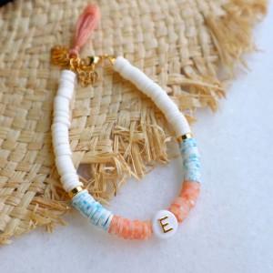 Letter summer bracelet pastel