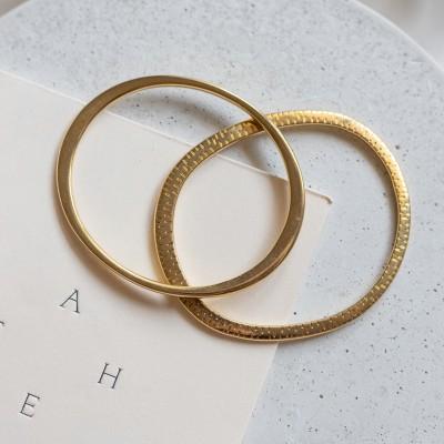 Set cuffs bracelets gold
