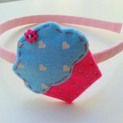 Χειροποίητη στέκα Cupcake hearts