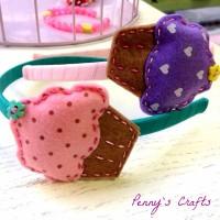 Χειροποίητες παιδικές στέκες cupcakes