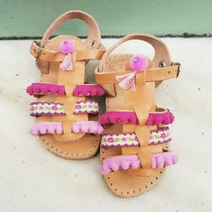 Gladiator Baby Sandals Pink