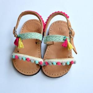 Baby sandals Aqua Pink Lemon