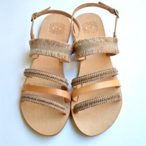 Handmade Makrame Crystal Sandals