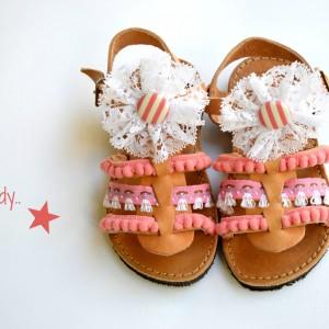 Handmade baby sandal candy