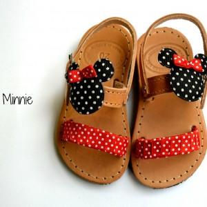Handmade baby sandal Minnie