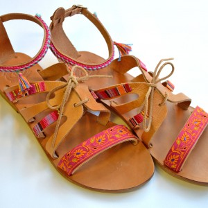 Handmade Boho Silk Sandal