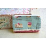 Mini fabric wallet macarons pastel