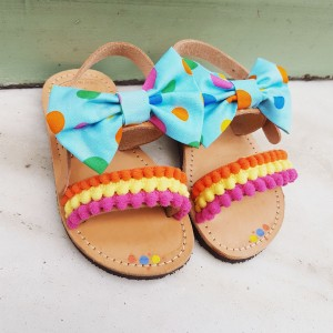 Baby Sandals Smarties Pom Pons