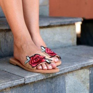 Roses Leather Sandals