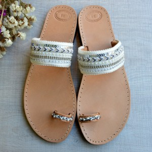 Bridal leather sandal